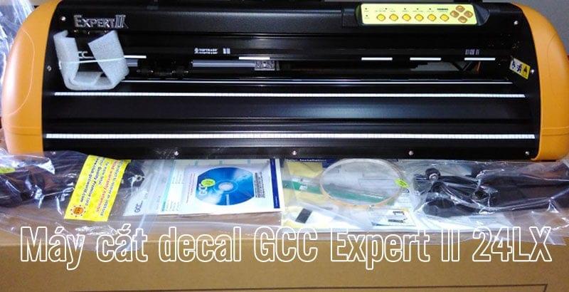Máy cắt chữ decal GCC Expert II 24LX khui từ thùng ra