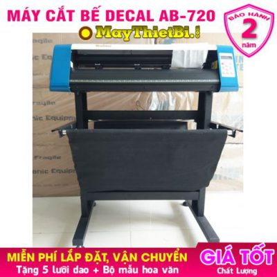 Máy cắt bế decal giá rẻ AB-720 cắt trực tiếp Corel BH 2 năm