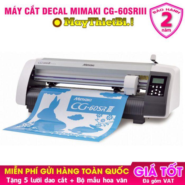 Máy cắt decal Mimaki CG-60SRIII: Cắt nhanh chính xác, bế tem nhãn chuẩn