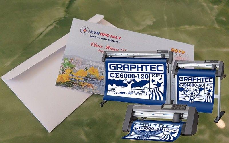 Cắt bế phong bì nhanh, dễ dàng với Máy cắt bế decal Graphtec CE6000 Plus