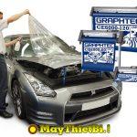 Cắt film cường lực PPF dán bảo vệ xe hơi bằng máy cắt decal Graphtec CE6000 Plus