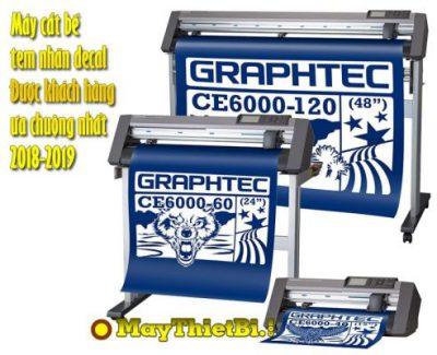 Máy bế decal tem nhãn demi và decal cuộn in offset được ưa chuộng nhất là Graphtec CE6000 Plus