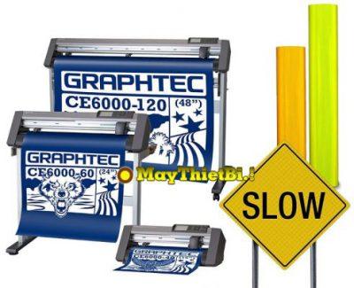 Cắt decal phản quang 3M 3900 - 3400 bảng giao thông với máy Graphtec CE6000 Plus