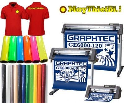 Máy cắt decal chuyển nhiệt in áo tốt nhất là Graphtec CE6000 Plus