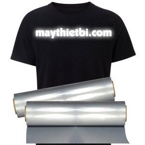 Decal phản quang chuyển nhiệt màu bạc PU khổ 0,61mx50m có keo