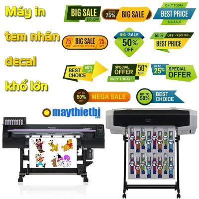 Chọn mua máy in tem nhãn decal nhựa, decal trong khổ lớn