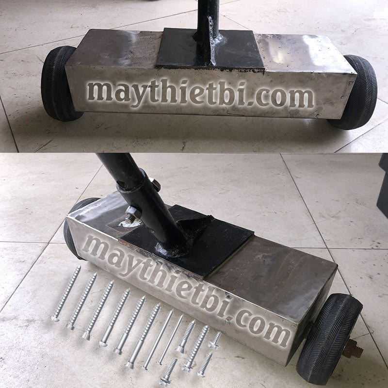 Xe hút đinh ốc vít, dằm sắt thép khổ 40cm