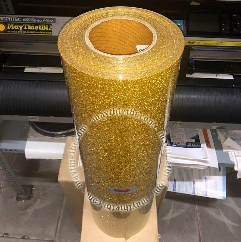 Decal nhiệt kim tuyến vàng (Gold Glitter)