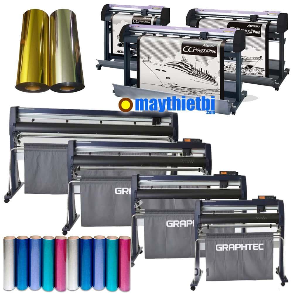Máy cắt decal chuyển nhiệt công suất cao cắt chữ nhỏ cực đẹp cho xưởng in áo lớn