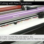 ID Cut giúp Mimaki CG-FXII Plus cắt bế chính xác tem nhãn decal