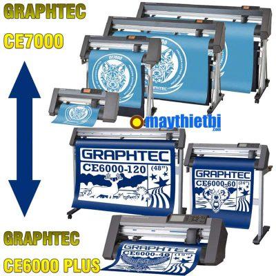 So sánh máy cắt decal Graphtec CE7000 với CE6000 Plus: Tính năng, giá bán