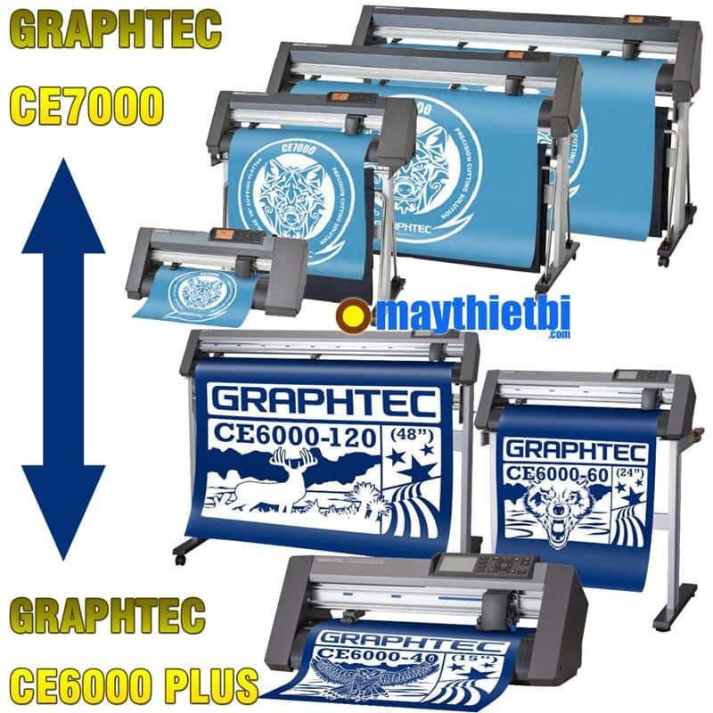 So sánh máy cắt decal Graphtec CE7000 với Graphtec CE6000 Plus