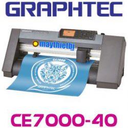 Máy cắt decal Graphtec CE7000-40 giá rẻ, cắt bế tem nhãn nhanh, đẹp