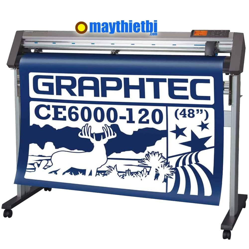 Máy cắt bế decal khổ lớn giá rẻ, chính xác, cắt dài không lệch CE6000-120 Plus