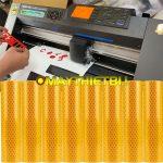 Cắt decal phản quang Avery và 3M loại dày với máy cắt Graphtec CE7000