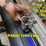 Cách chỉnh sửa máy cắt decal Graphtec bị lỏng cụm đầu dao gây rung lắc, cắt run chữ
