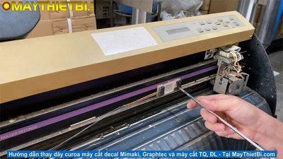 Hướng dẫn thay dây cu roa máy cắt decal Mimaki, Graphtec, TQ