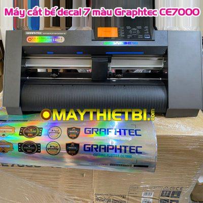 Máy cắt decal Graphtec CE7000 bế decal 7 màu cực đẹp