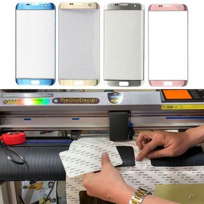Cắt băng keo hai mặt ép kính điện thoại, smartphone bằng máy cắt Graphtec CE6000 Plus