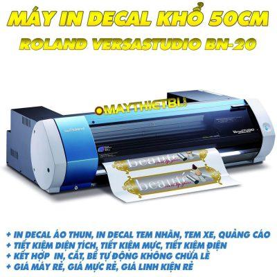Máy in decal Roland VersaStudio BN-20 kết hợp bế tự động khổ 50cm