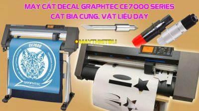 Hướng dẫn chỉnh máy cắt Graphtec CE7000 cắt giấy roki và couche