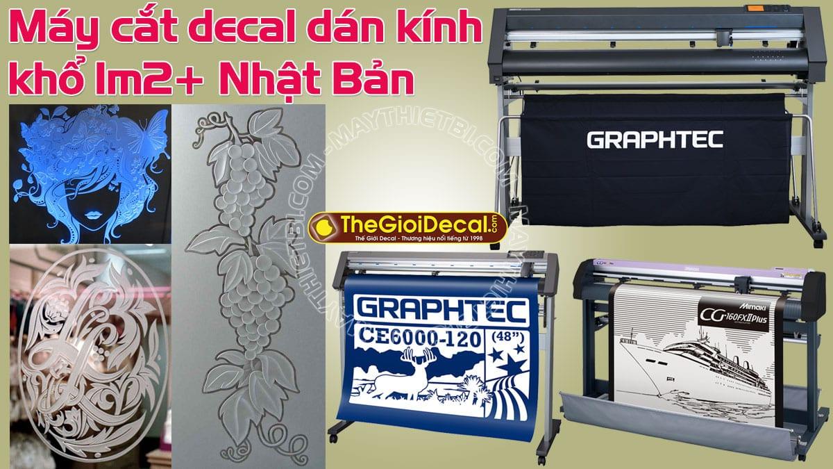 Máy cắt decal dán kính khổ 1m2+ Nhật Bản
