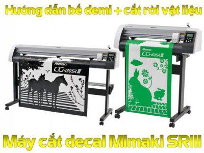 Hướng dẫn cắt demi kết hợp cắt đứt rời vật liệu máy cắt Mimaki CG-60SRIII