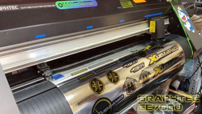 Cách làm file bế decal xi gương, inox, bạc, phản quang, 7 màu cho máy cắt Graphtec CE7000