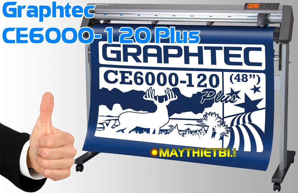 Máy cắt decal Graphtec CE6000-120 Plus chuyên cắt bế tem nhãn cuộn xưởng in khổ lớn
