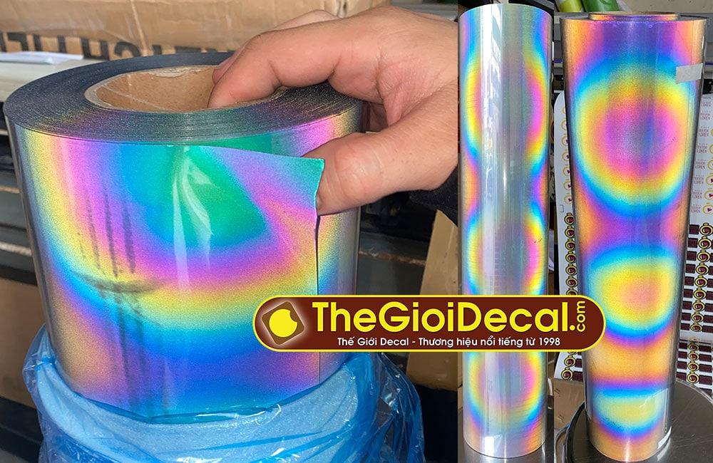 Decal phản quang chuyển nhiệt 7 màu PU 0,61m x 50m đế dính cực sáng