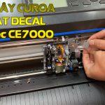Cách thay dây curoa (coroa) máy cắt decal Graphtec CE7000